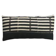 Janu 14x28 Lumbar Pillow, Peppercorn Black