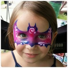 Batgirl Face Paint, Face Painting Designs, Crafty Kids, Face Paintings, Happy Colors, Halloween Make Up, Face Art, Design Tutorials, Painting Inspiration