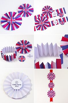 Printable Union Jack Jubilee rosette embellishment