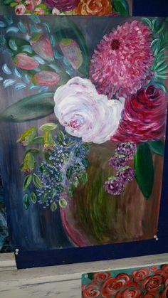 Boho flower art
