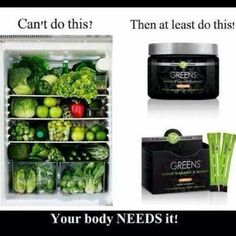 Take your greens it's all your fruits and veggies in 1 serving!!!! Only 33.00 a month ad loyal or 55 retail ! #4328160080