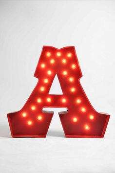 Playroom or secret room light - Marquee Alphabet Light - Clear  #UrbanOutfitters