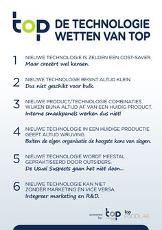 The Technology Laws of TOP,  by TOP Technology Talks (TOP b.v.) posted at slideshare. The suggestion of Wouter de Heij is to explicitly manage these 6 pitfalls. In reality this determines succes (or not).