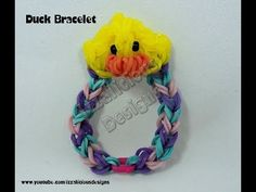 ▶ Rainbow Loom Duck Charm Bracelet - YouTube