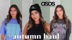 ASOS AUTUMN CLOTHING HAUL | NEW IN TRY ON Clothing Haul, Try On, Fashion Online, Fall Outfits, Asos, Beanie, Autumn, T Shirt, Clothes