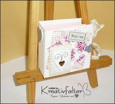 Kreativfalter / Papier - Unikate mit Herz Teebeutelbuch