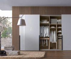 white wardrobe { several sliding-door modern wardrobe pictures for ideas } White Wardrobe, Sliding Wardrobe, Wardrobe Doors, Wardrobe Closet, Built In Wardrobe, Closet Doors, Wardrobe Ideas, Armoire Wardrobe, White Closet