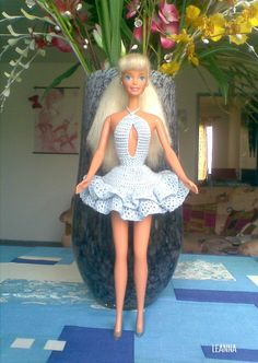 barbie crochet dress