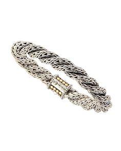 Y1W6H John Hardy Triple-Twist Gold Dot Chain Bracelet, Size 7.5