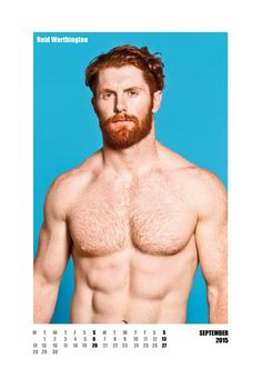 #redhot #redheads Mr September - Capture the spirit of the RED HOT exhibitions and tour in a calendar for anyone who appreciates hot men with red hair. £20