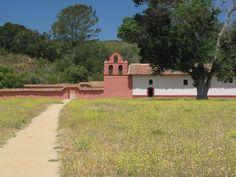 La Purisima Concepcion mission in Lompoc, CA California Missions, California Travel, Camino Real, Santa Barbara County, Vacation Spots, Maps, Trail, Creativity, Country Roads