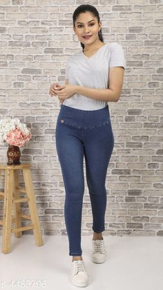 Checkout this latest Jeans Product Name: *Stylish Women's Denim Jeans* Sizes: 28, 30, 32, 34, 36, 38, 40 Country of Origin: India Easy Returns Available In Case Of Any Issue   Catalog Rating: ★4 (1390)  Catalog Name: Ladies Solid Tummy Tucker Denim Jeans Vol 1 CatalogID_647675 C79-SC1032 Code: 734-4485796-1011