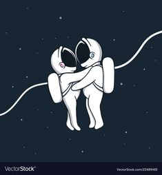 Love story in space vector image on VectorStock