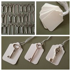 Skeleton Key Wedding Favors  100 Antique Silver by thejourneysend, $75.00 - Ask for mixed metal?