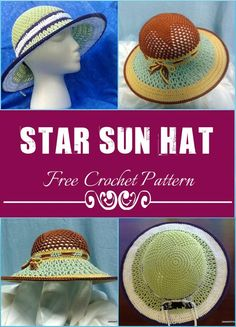 Stylish Crochet Star Sun Hat - 110+ Free Crochet Patterns for Summer and Spring - Page 3 of 12 - DIY & Crafts