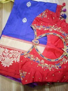 Wedding Saree Blouse Designs, New Blouse Designs, Blouse Back Neck Designs, Blouse Desings, Mirror Work Blouse, Maggam Work Designs, Hand Embroidery Dress, Maggam Works, Saree Blouse Patterns