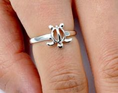 .925 Sterling Silver Ring size 7 Turtle Midi Knuckle Ladies Thumb Sea New p95 #Unbranded #Band