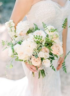 #blush and #white #wedding #bouquet