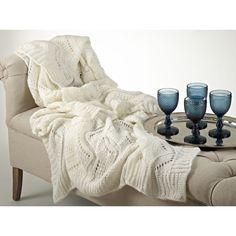 Mohair Design Throw Blanket