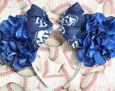 Tampa Bay Rays Inspired Floral Mouse Ears