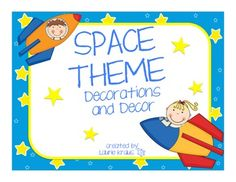 Space Theme - Decorations and Decor - TPT