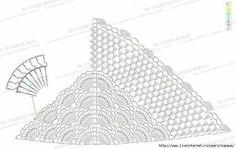 Crochet shawl pattern diagram lace                              …
