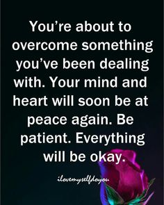 I am patiently waiting Lord!
