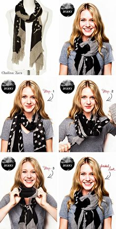 Varias formas de lucir tu foulard. #trucos #consejos #foulard