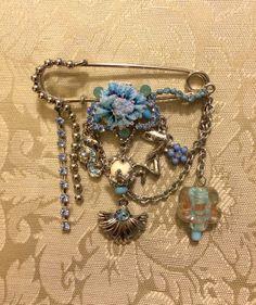 Swarovski Crystal Victorian Inspired Kilt Pin Brooch