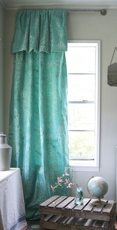 How to Create a Boho-inspired Drop Cloth Curtain with Chalk Paint® | DIY by me & mrs. jones | DIY Project Feature on The Palette Blog