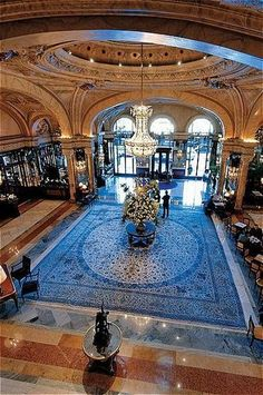 Hotel de Paris in Monte Carlo. Stepping back in time. So beautiful <3