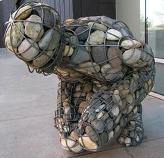 4,000 Pounds of Rocks Fill a Human-Shaped Steel Frame - My Modern Metropolis