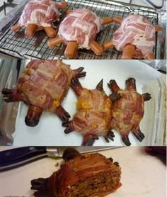The German Turtle - Bacon, Hotdogs, Ground Beef... OH DEAR GOD.  I can feel my arteries clogging just looking at this!