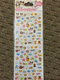 Transparent schedule stickers Disney Tsum Tsum by OnceUponAWashi