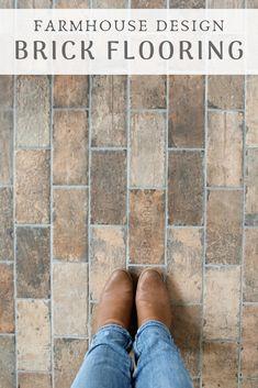 Design: Brick Tile Flooring - Sugar Maple Farmhouse Brick tile flooringBrick tile flooring Have you heard of the German Schmear, AKA German Smear Tesoro Chicago City Mix Deco 4 x 8 State Street Rustic Cottage House Plan with. Brick Tile Floor, Brick Look Tile, Ceramic Floor Tiles, Brick Flooring, Brick Floor Kitchen, Rustic Tile Flooring, Faux Brick Walls, Diy Flooring, Laminate Flooring