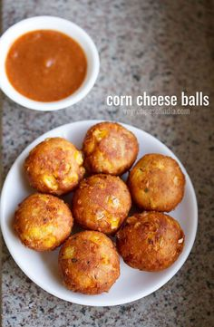 corn cheese balls recipe with step by step photos – this is an easy, tasty and a no fail recipe of cheese corn balls. #corncheeseballs #cheesecornballs Cheese Corn Balls Recipe, Cheese Ball Recipes, Fried Corn Balls Recipe, Veg Recipes Of India, Indian Corn Recipes, Cheese Snacks, Cheese Food, Cheese Party, Vegan Cheese