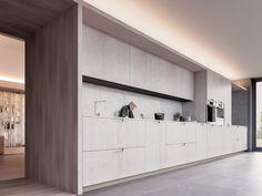 Cozinha lacada de folheado de madeira com puxadores VELVET HANDLE by GD Arredamenti