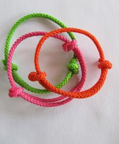 Neon, bangle bracelets. DIY