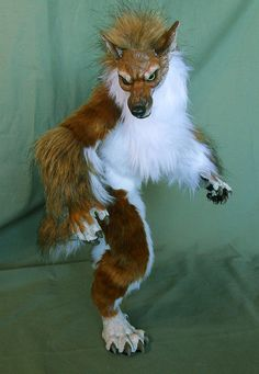 Handmade Poseable Art Doll Mink Gold Werewolf by WormsandBones