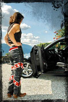 Pantalon cuir de la zine Mustang