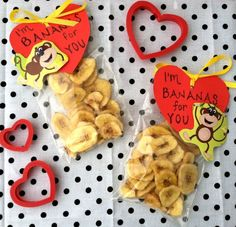 Banana Chips and a Healthy, Kid Approved Valentine's Day Snack and Craft | Primally Inspired