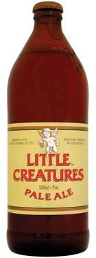 Little Creatures Pale Ale  From Fremantle, Western Australia brewers Little Creatures, this is the most significant 'craft' beer to make an impact on the mainstream Australian market.