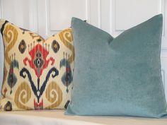 DOUBLE-SIDED  Chenille Velvet Decorative by TurquoiseTumbleweed