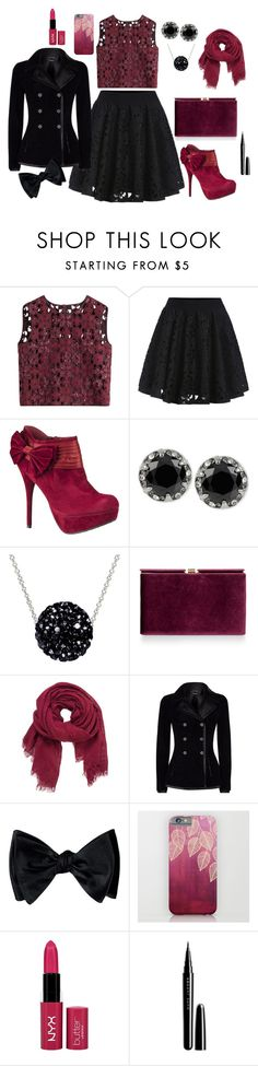 """hmmm..."" by hsheril ❤ liked on Polyvore featuring moda, Alberta Ferretti, Betsey Johnson, Monsoon, maurices, Alexander McQueen, NYX y Marc Jacobs"