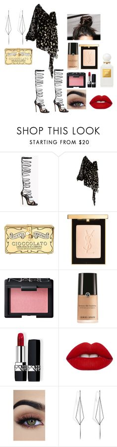 """""""dn"""" by zkrn on Polyvore featuring Dsquared2, Yves Saint Laurent, Dolce&Gabbana, NARS Cosmetics, Giorgio Armani, Christian Dior, Lime Crime, Diane Kordas and Tom Ford"""