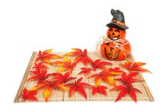 Halloween Decoration With Leaves