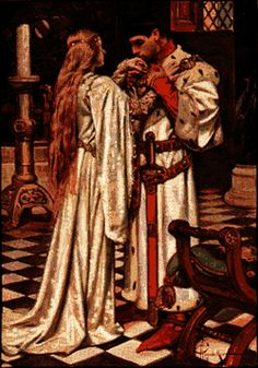 Image result for medieval knight kissing lady