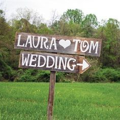 Rustic Wedding Signs Romantic Outdoor Weddings LARGE FONT Hand Painted Reclaimed Wood. Rustic Weddings. Vintage Weddings. Road Signs.. $60.00, via Etsy.