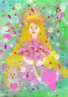 Cure, Angel, Fine Art, Illustration, Pink, Poster, Illustrations, Visual Arts, Pink Hair