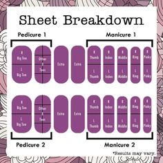 $15 a sheet is so much cheaper then going to a nail salon. That's only $3 a manicure that last 2 weeks long. Check out how many designs you get per sheet? There are a couple of Jamberry sheets that come with more then one design. Here is the sheet breakdown and the wraps that come in multiple designs.